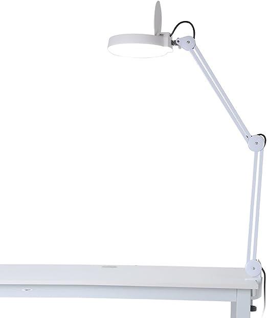 Lámpara lupa LED, lámpara lupa de mesa estética ajustable 8 ...