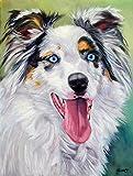 Caroline's Treasures 7358GF Australian Shepherd Blue Eyes Garden Flag, Small, Multicolor Review