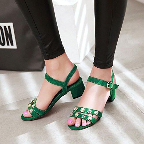 SK Studio - Zapatos con tacón Mujer Verde