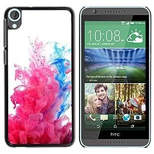 For HTC Desire 820 Case , Water Fluid Dynamic Pink White - Diseño Patrón Teléfono Caso Cubierta Case Bumper Duro Protección Case Cover Funda