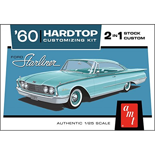 AMT 1055 1960 Ford Starliner Hardtop 2 in 1 1:25 Scale Plastic Model Kit - Requires Assembly (Model 1960's)