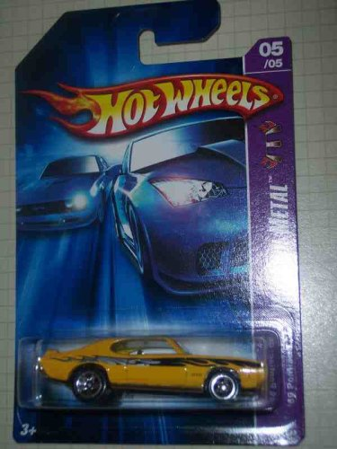 Motown Metal Series #5 1969 Pontiac GTO Yellow #2006-90 Collectible Collector Car Mattel Hot Wheels 1:64 Scale
