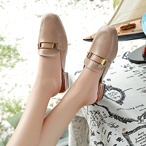 slippers Cool Rubber color Breathable Color Pure women WHLShoes Semi Entertainment Casual Fashion Apricot Slippers Bottom Baotou d0tqWZ