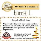 Homall Bar Stools Walnut Bentwood Adjustable Height Leather Modern Barstools with Back Vinyl Seat Extremely Comfy Bar Stool 1 Piece