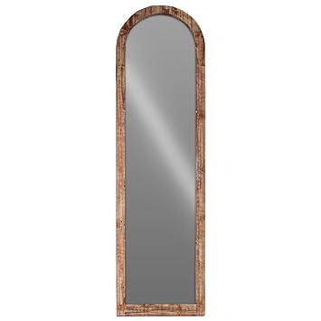 Amazon.com: Benzara Wood Arched Floor Mirror-Brown Accents: Home ...