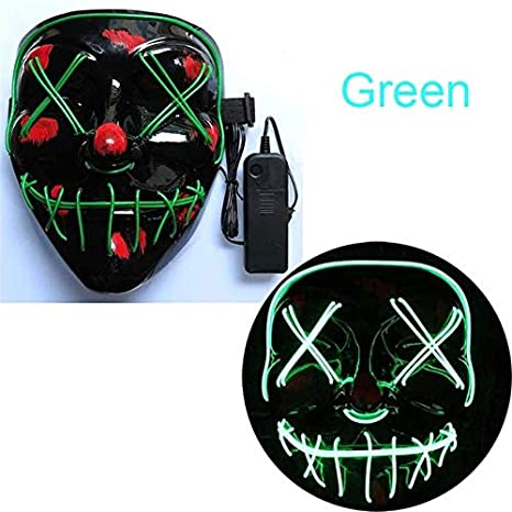 Máscara de Halloween LED Maske Light Up Party Masks ...