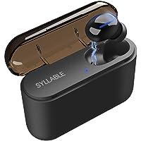 SAIER BEIER Audífono Bluetooth, Syllable Q32 Auricular Bluetooth 5.0 Mini Estéreo In-Ear Audífonos Inalámbricos Deportivos Manos Libres con Estuche de Carga de 1500mAh para iPhone y Android