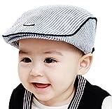Ularma Adorable Baby Infant Boy Girl Stripe Beret Cap Peaked Baseball Hat (Blue)
