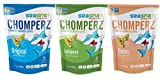 SeaSnax Chomperz Crunchy Seaweed Chips 3 Flavor Variety Bundle: (1) SeaSnax Chomperz Jalapeno, (1) SeaSnax Chomperz Original, and (1) SeaSnax Chomperz Onion, 1 Oz. Ea. (3 Bags Total)