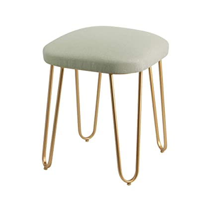 coupon code high quality first rate Amazon.com: Iron Art Footrest Ottoman Pouffe Upholstered ...