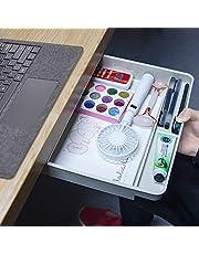 $22 » Large Under Desk Drawer - Hidden Self Adhesive Storage Organizer Under Table Space Saving for Computer Desk Home Office School Accessories