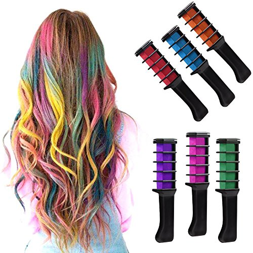 IVYRISE 6PCS Hair Chalk Comb Temporary Color Non-Toxic