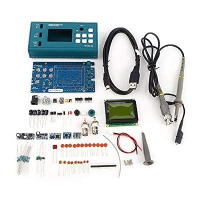 Digital Storage Oscilloscope, Oscilloscope DIY Kit Disassembled Parts with LCD 20MHz Probe Teaching Set