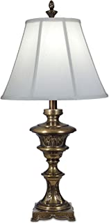product image for Stiffel TL-N8294-SU One Light Table Lamp, Smoked Umber Finish with Off White Silk Shade