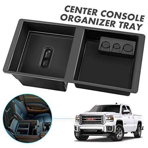 - Audew Center Console Insert Organizer Tray for 14-19 Silverado, Tahoe, Suburban, Sierra, Yukon, Escalate - Replaces GM Central Armrest Box Compartment for Extra Storage & Organization