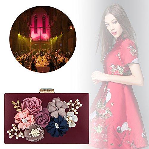 Rouge Femme Pour Pochette Bagood blanc Bordeaux 4tEqRzw