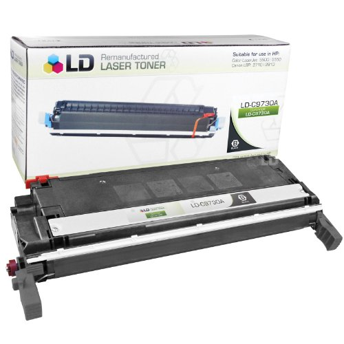 LD Remanufactured Replacement Laser Toner Cartridge for Hewlett Packard C9730A (HP 645A) Black for the Color LaserJet 5500n, 5550hdn, 5500dtn, 5500, 5550dtn, 5500dn, 5550n, 5550, 5550dn, 5500hdn 5500n Laser Printer