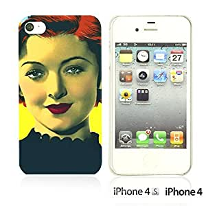 OnlineBestDigitalTM - Celebrity Star Hard Back Case for Apple iPhone 4S / Apple iPhone 4 - Myrna Loy