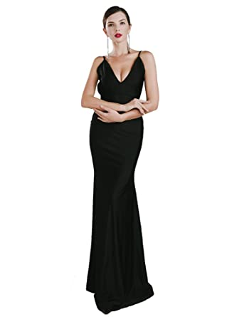 Missord Womens Sexy V-neck Halter Sleeveless Backless Party Prom Dress Black Xsmall 6