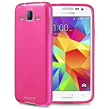 Fosmon® Samsung Galaxy Core Prime Case (DURA-FRO) Slim-Fit Flexible TPU Gel Case Cover for Samsung Galaxy Core Prime - Fosmon Retail Packaging (Hot Pink)