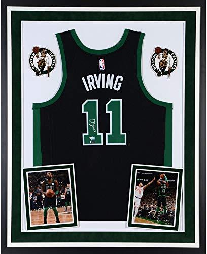 feffceac4 Kyrie Irving Boston Celtics Deluxe Framed Autographed Black Swingman Jersey  - Panini Authentic - Fanatics Authentic Certified