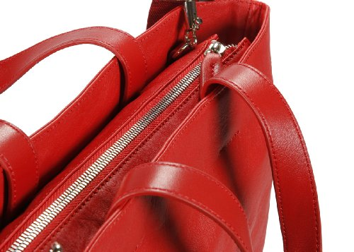 Nava Bolso shopping N-leather tote large Rojo