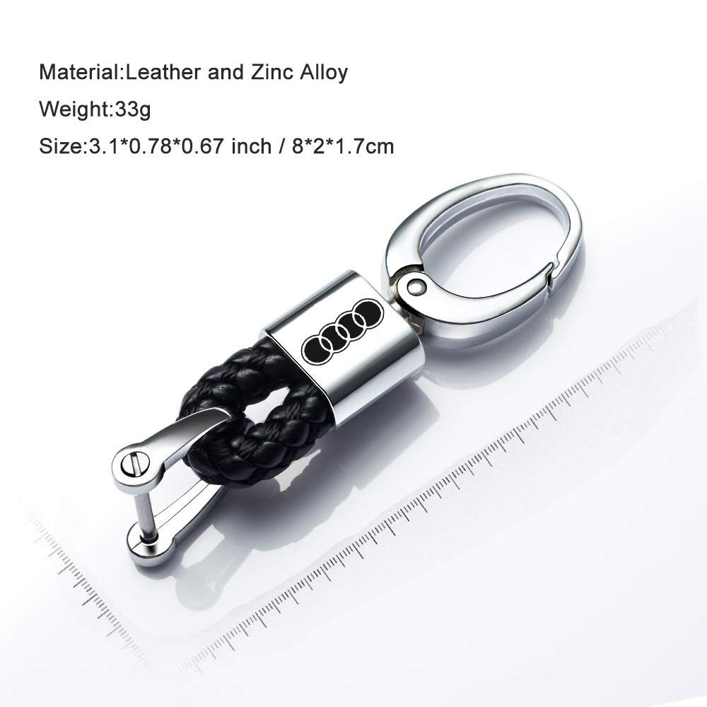 Goshion 2Pack Genuine Leather Car Logo Keychain for Mercedes Benz Key Chain Accessories Keyring with Logo