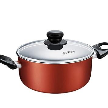YANGYAYA Olla Cacerola,Utensilios de Cocina Olla,Antiadherente Utensilios de Cocina Multifuncional Sartenes con Mango 8 Inch 20cm-Naranja 20cm(8inch): ...
