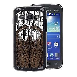A-type Arte & diseño plástico duro Fundas Cover Cubre Hard Case Cover para Samsung Galaxy Ace 3 (Beard Movember Hipster Text)