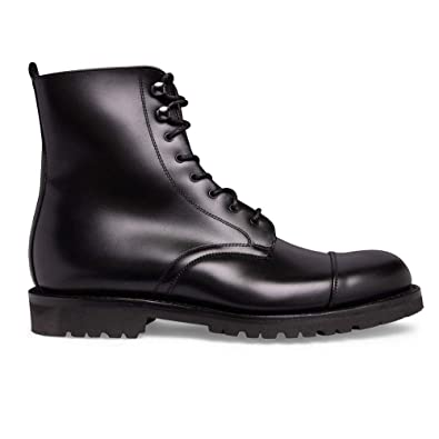 222f2247703 Cheaney Trafalgar Capped Derby Boot in Black Calf Leather: Amazon.co ...