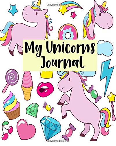 My Unicorns Journal: Notebook Journal For Kids Lined Journal Size 8x10 100pages (Volume 7)