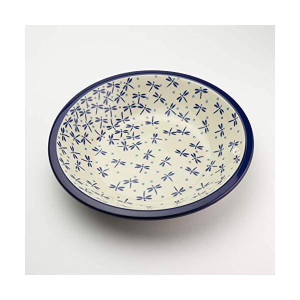 Polish Pottery Pasta Bowl – Dragonfly
