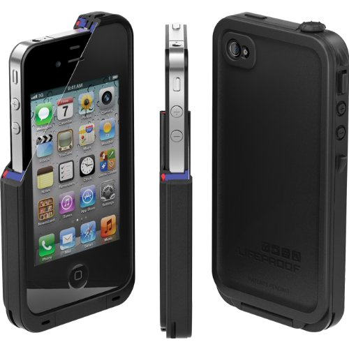 online store a1b62 e3953 Lifeproof for iPhone 4/4S - Black
