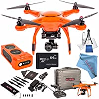 Autel Robotics X-Star Premium Quadcopter with 4K Camera and 3-Axis Gimbal (Orange) + 64GB microSDXC + Deluxe Cleaning Kit + Fibercloth Bundle