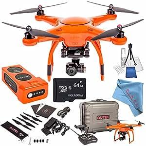 Autel Robotics X-Star Premium Quadcopter with 4K Camera and 3-Axis Gimbal (Orange) + 64GB microSDXC + Deluxe Cleaning Kit + Fibercloth Bundle