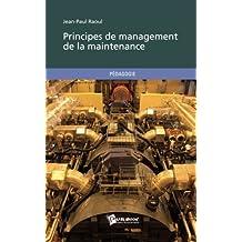 Principes de management de la maintenance