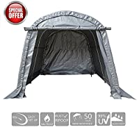 KdGarden Heavy Duty Carport Canopy 10' x 10' Portable Enclosed Garage and Shelter