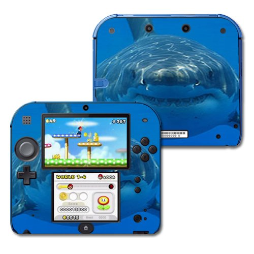 MightySkins Skin Compatible with Nintendo 2DS - Shark | Protective, Durable, and Unique Vinyl Decal wrap Cover | Easy to Apply, Remove, and Change Styles | Made in The USA