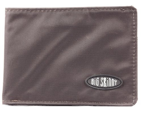 Big Skinny Men's Compact Sports Bi-Fold Slim Wallet, Holds Up to 20 Cards, Brown