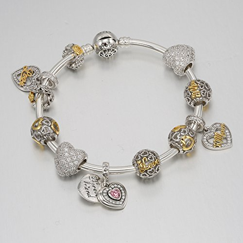 Glamulet Art Love Me And Kiss Me Charm 925 Sterling