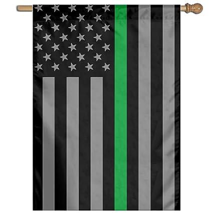 amazon com nutaer thin green line american flag vertical flag