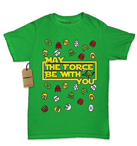 Womens May The Force Be With You T-Shirt Medium Kelly Green - Chewbacca Costume Female