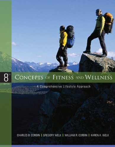 Concepts of Fitness and Wellness w/ Accusplit Goal Tracking Pedometer