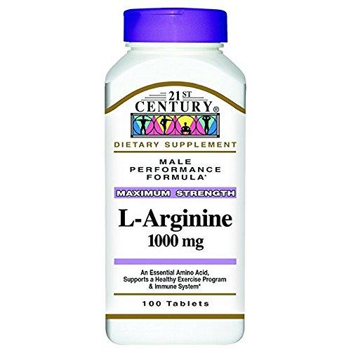 21st Century L-Arginine 1000mg, Maximum Strength 100 ea (Pack of 12) by 21st Century