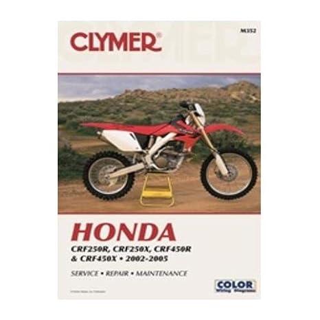 amazon com clymer repair manual for honda crf 250r x 450r x 02 05 rh amazon com 2006 honda crf450x manual 2006 honda crf450x manual