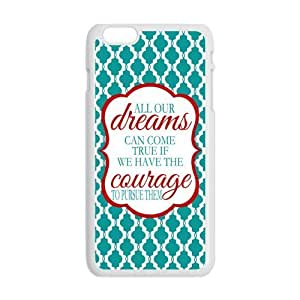 diy zhengDreams Walt Disney Quote Case Cover for Personalized Case for Personalized iphone 5c (Laser Technology) Screen iPhone Strong Protect Case-02