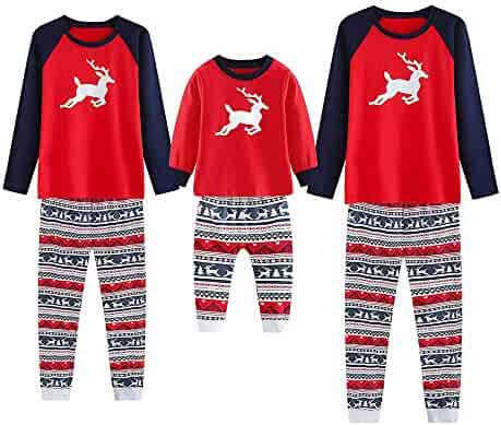 4c69db913f4e Family Matching Pajamas Sets Christmas Pajamas Outfit Deer Print Holiday  Clothes PJ Sets Mom Dad Kids