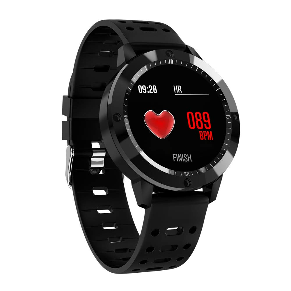... Smart Sport Band Activity Wristband Bracelet Tracker IP67 Waterproof Fitness Pedometer Watch with Heart Rate Monitor for Android & iOS Phones (Black)