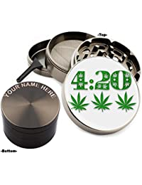 Get 420 Design Large Size Zinc Grinder With Your Name FREE - Gift Pack Item # 111315-169 wholesale