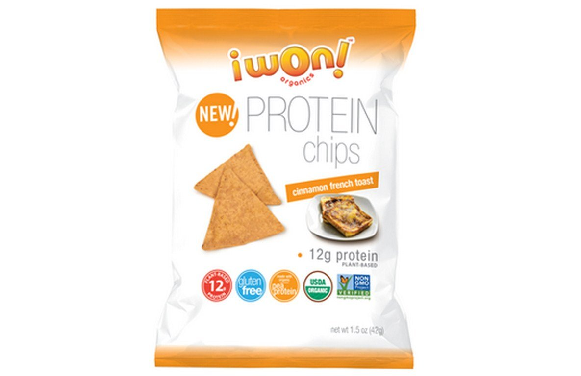 I WON! NUTRITION CO, CHIPS, OG2, CIN, FRNCH TOAST, Pack of 8, Size 1.5 OZ - No Artificial Ingredients Low Carb Dairy Free Gluten Free GMO Free Kosher Wheat Free Yeast Free 95%+ Organic